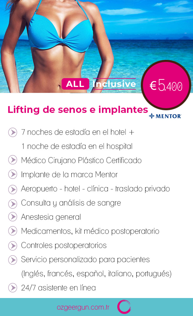 Lifting de Senos e Implantes Todo inclusivo